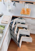 Corner Drawers, 4 Drawer Shown